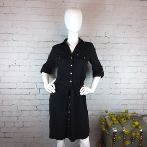 NWOT Tommy Hilfiger belted button down shirt dress